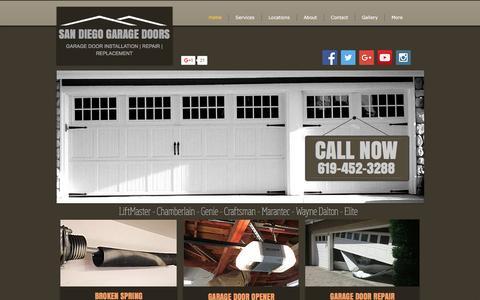 Screenshot of Home Page san-diego-garage-doors.com - San Diego Garage Door Repair | Install | San Diego, CA - captured Dec. 4, 2016