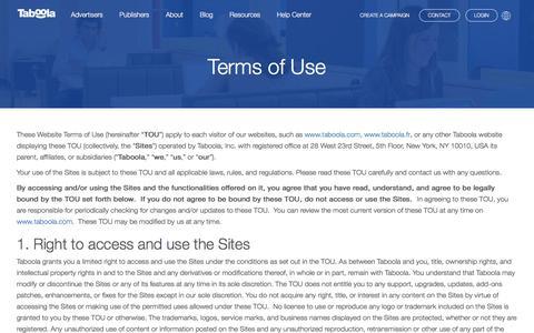 Terms of Use | Taboola.com