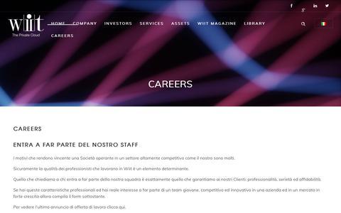 Screenshot of Jobs Page wiit.cloud - Careers - captured Nov. 17, 2018