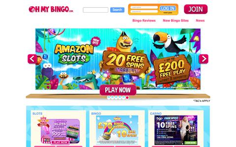 Screenshot of Home Page ohmybingo.com - Play Free Bingo Online | Bingo Sites + Bingo Offers | OhMyBingo - captured Jan. 16, 2019