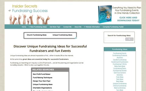 Screenshot of Home Page all-unique-fundraising-ideas.com - Unique Fundraising Ideas for Successful Fundraisers and Fun Events - captured April 9, 2017