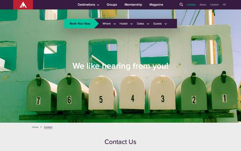 Screenshot of Contact Page hihostels.ca - Contact | Book Hostels Direct for Best Rate - captured Sept. 29, 2018
