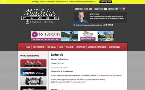 Screenshot of Contact Page themusclecarplace.com - Contact Us   TheMuscleCarPlace.com - captured Sept. 30, 2014