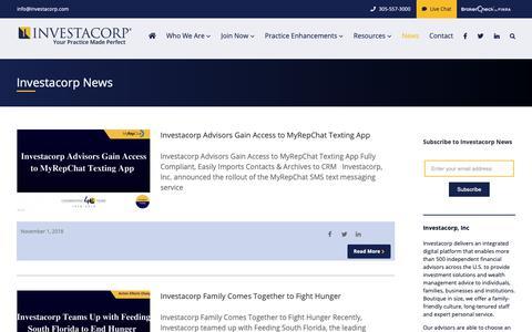 Screenshot of Press Page investacorp.com - Blog - Investacorp - captured Nov. 14, 2018