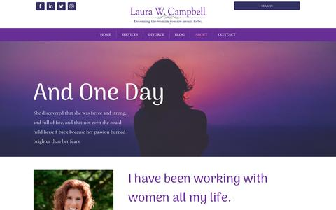Screenshot of About Page laurawcampbell.com - About Laura Campbell | Laura W Campbell - captured Nov. 4, 2018