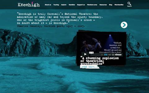 Screenshot of Home Page kneehigh.co.uk - Welcome | Kneehigh - captured Sept. 30, 2014