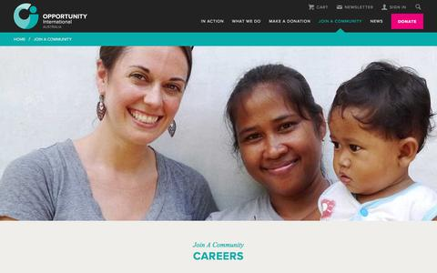 Screenshot of Jobs Page opportunity.org.au - Careers | Opportunity International Australia - captured July 6, 2017