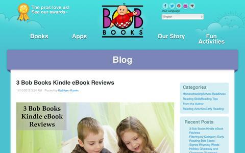 Screenshot of Blog bobbooks.com - Blog - captured Jan. 19, 2016