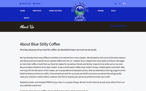 Screenshot of About Page bluestilly.com - About Us - Blue Stilly Coffee Roasters - Premium coffee Delivered to you - captured Oct. 10, 2017