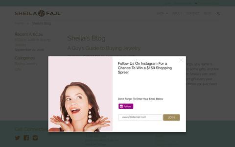 Screenshot of Blog sheilafajl.com - Sheila's Blog – Sheila Fajl - captured Oct. 4, 2017