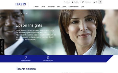 Screenshot of Press Page epson.nl - Epson Laatste Nieuws, Nieuwszaal, Persberichten en Inzichten - Epson - captured Aug. 14, 2017