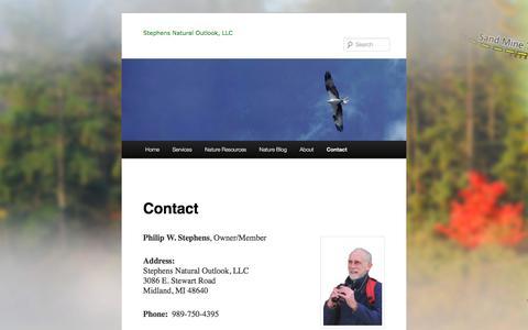 Screenshot of Contact Page stephensnaturaloutlook.com - Contact Phil at Stephens Natural Outlook, LLC | - captured Nov. 6, 2017