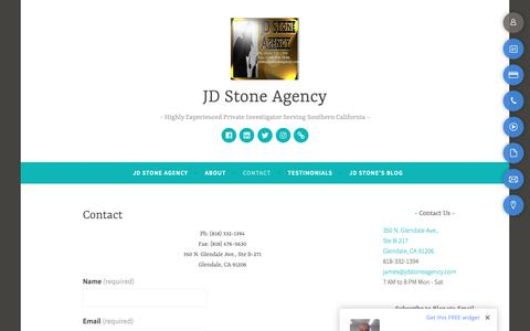 Screenshot of Contact Page jdstoneagency.com - Contact – JD Stone Agency - captured Sept. 30, 2018