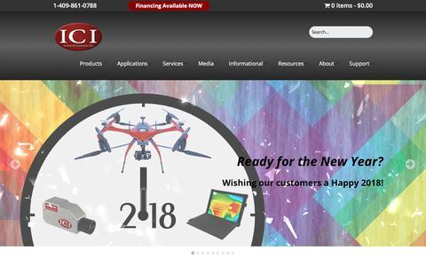 Screenshot of Home Page infraredcamerasinc.com - Infrared & Thermal Camera Specialists | Infrared Cameras Inc. - captured Jan. 12, 2018