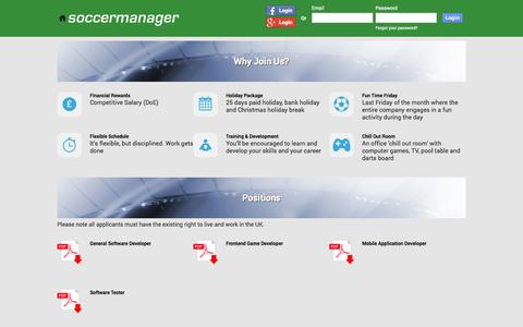 Screenshot of Jobs Page soccermanager.com - Soccer Manager Studio | Free Soccer Manager game - captured Oct. 29, 2014