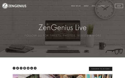 Screenshot of Press Page zengenius.com - News — ZENGENIUS, INC. : Visual Merchandising, Event Merchandising & Creative Direction - captured Oct. 20, 2018