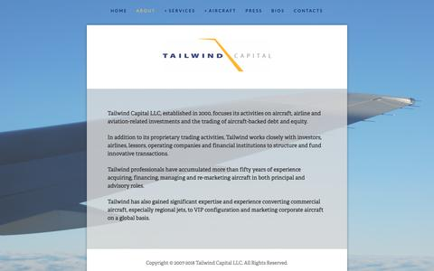 Screenshot of About Page tailwindcapital.net - About — Tailwind Capital - captured Oct. 18, 2018