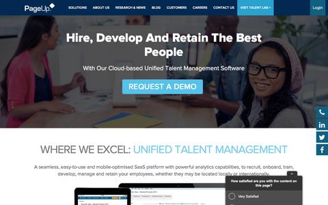 Screenshot of Home Page pageuppeople.com - HR Software for Talent Management - PageUp - captured July 2, 2016