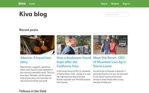 Kiva blog | Kiva