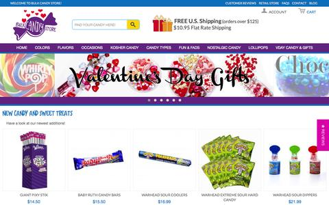 Screenshot of Home Page bulkcandystore.com - Bulk Candy Store - Online Candy Superstore - captured Jan. 21, 2015