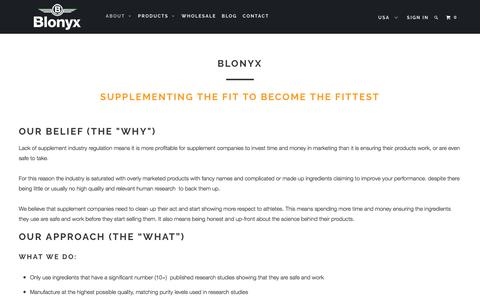 Screenshot of About Page blonyx.com - About Blonyx - captured Nov. 22, 2016