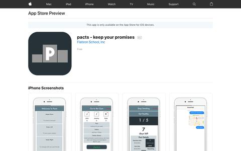 pacts - keep your promises on the AppStore