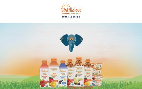 Screenshot of Home Page dahlicious.com - Dahlicious Organic - captured Oct. 7, 2018