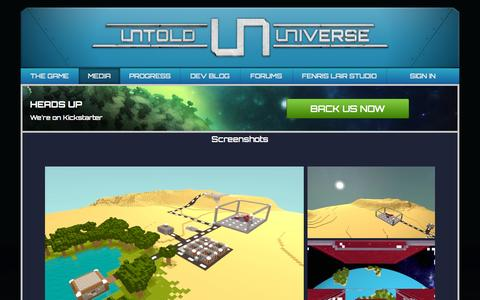 Screenshot of Press Page untold-universe.com - Untold Universe | Screenshots and Arts - captured Oct. 5, 2014