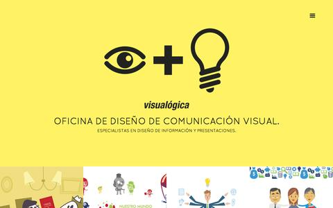 Screenshot of Home Page visualogica.com - Visualogica | Especialistas en presentaciones. - captured Feb. 24, 2016