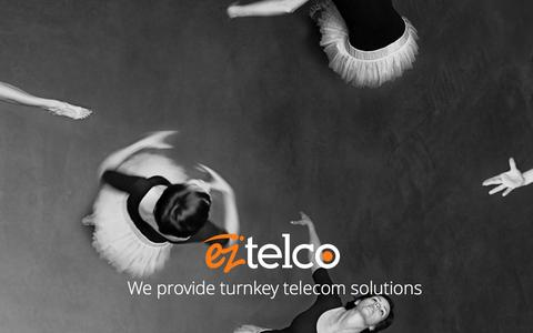 Screenshot of Home Page eztelco.com - Home - EZTELCO - captured Oct. 1, 2014