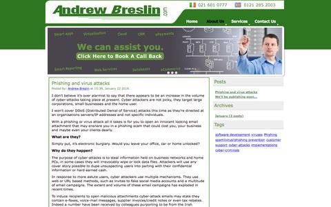 Screenshot of Blog andrewbreslin.com - AndrewBreslin.com - Blog - captured Feb. 6, 2016