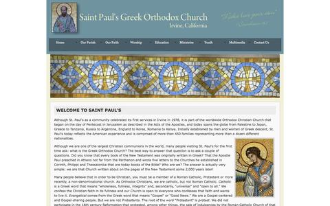 Screenshot of About Page stpaulsirvine.org - Welcome to Saint Paul's - captured Sept. 30, 2016