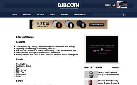 Screenshot of Site Map Page djbooth.net - DJ Booth Sitemap - captured June 20, 2017