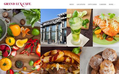 Screenshot of Home Page grandluxcafe.com - Grand Lux Cafe - captured July 24, 2015