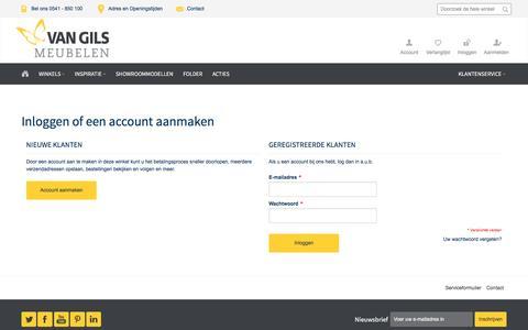 Screenshot of Login Page vangils.nl - Klant-login - captured Dec. 18, 2016