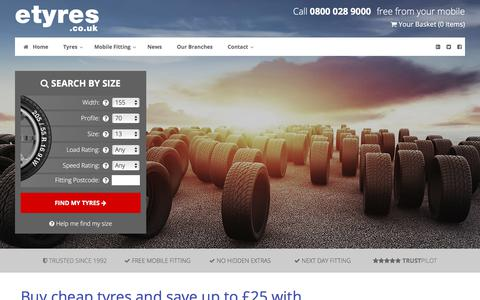 etyres discount promise | Find cheap tyres and save up to £25