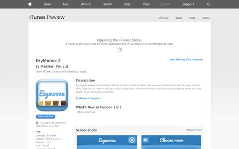 Screenshot of iOS App Page apple.com - EzyMoove 2 on the App Store on iTunes - captured Oct. 31, 2014