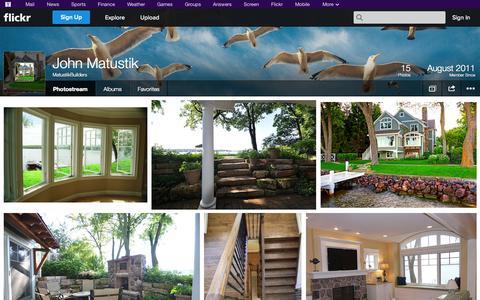 Screenshot of Flickr Page flickr.com - Flickr: MatustikBuilders' Photostream - captured Oct. 23, 2014