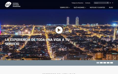 Screenshot of Home Page gtd.es - GTD :: System & Software Engineering - captured July 10, 2016