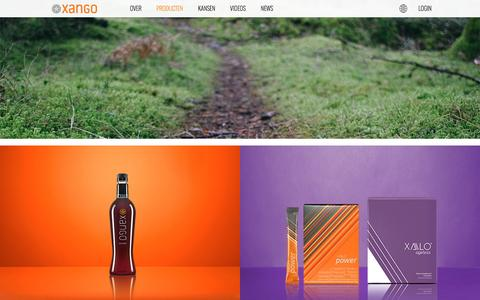 Screenshot of Products Page xango.nl - | XANGO Netherlands - captured April 17, 2016
