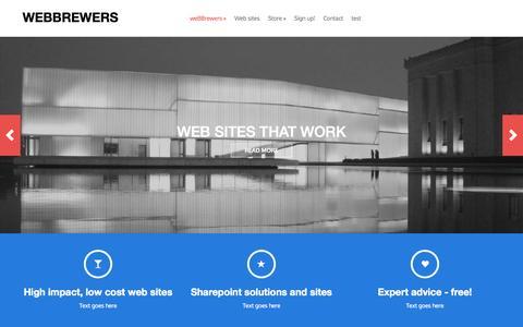 Screenshot of Home Page webbrewers.com - webbrewers - captured Sept. 13, 2015