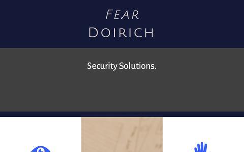 Screenshot of Home Page feardoirich.co.uk - Fear Doirich - Home - captured Aug. 10, 2018