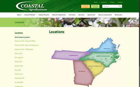 Screenshot of Locations Page coastalagro.com - Locations | Coastal AgroBusiness - captured Sept. 28, 2018
