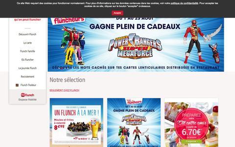 Screenshot of Home Page flunch.fr - Restaurants flunch : Repas, Adresses, et horaires d'ouverture - captured Aug. 3, 2015