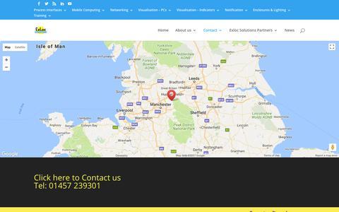 Screenshot of Maps & Directions Page exloc.co.uk - Map (UK) | Exloc Instruments UK - captured Sept. 10, 2017