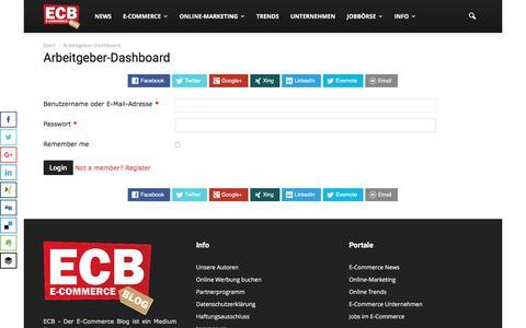 Screenshot of Login Page e-commerce-blog.de - ECB - Der E-Commerce-Blog | ECB - captured Sept. 2, 2016