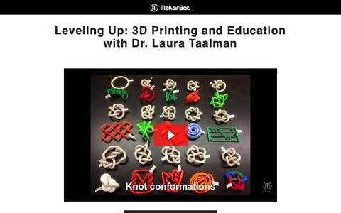 Screenshot of Landing Page makerbot.com - MakerBot Desktop 3D Printers - captured March 8, 2017