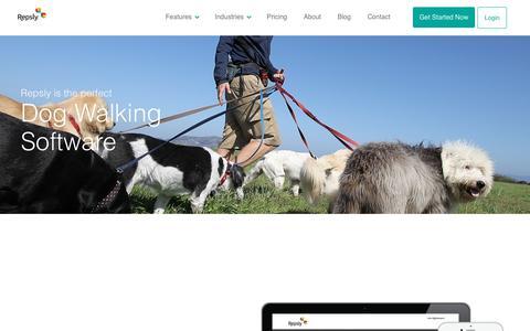 Screenshot of repsly.com - Dog Walking Software - captured March 20, 2016