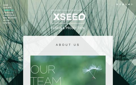 Screenshot of Team Page xseeddesign.com - Our Team — XSEED Design & Production - captured Oct. 8, 2014
