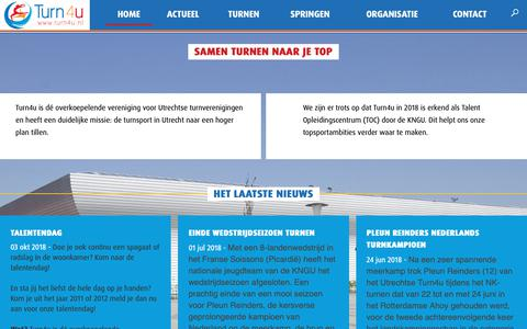 Screenshot of Home Page turn4u.nl - Samen turnen naar je top | Turn4U - captured Oct. 20, 2018